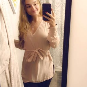 Pink H&M dress shirt (with straps)